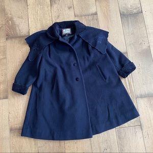 Vintage Rothschild Wool Coat Kids Toddler Navy 4T